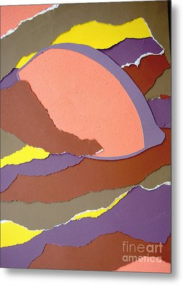 Metal Print featuring the mixed media Lemon Twist by Vonda Lawson-Rosa