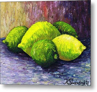 Lemons And Limes Metal Print by Kamil Swiatek