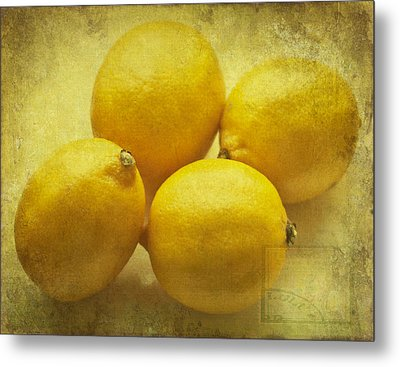 Lemons Metal Print by Georgia Fowler