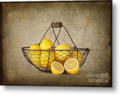 Lemons Metal Print by Heather Swan