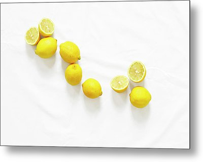 Lemons Metal Print by Lauren Mancke