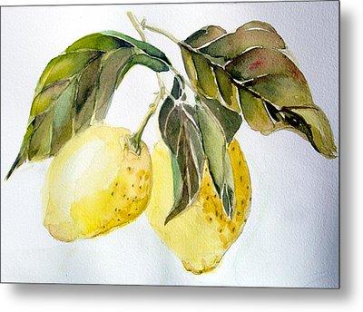 Lemons Metal Print by Mindy Newman