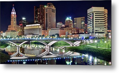 Lengthy Columbus Nightscape Metal Print by Frozen in Time Fine Art Photography