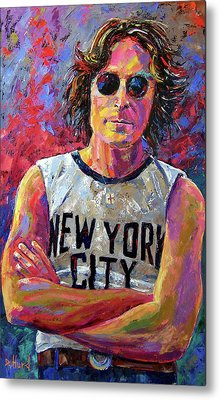 Lennon New York Metal Print by Debra Hurd