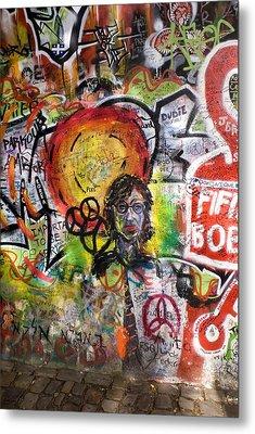 Lennon Wall, Prague Metal Print by Mark Williamson