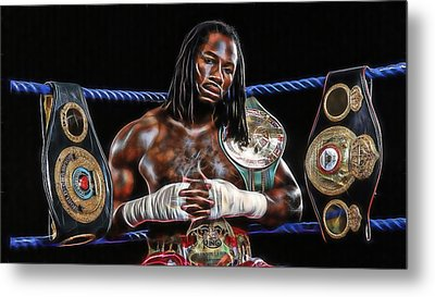 Lennox Lewis Collection Metal Print by Marvin Blaine