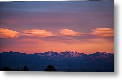Lenticular Clouds Metal Print