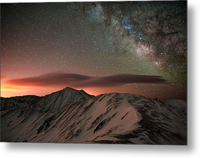Lenticular Mountain Milky Way Metal Print