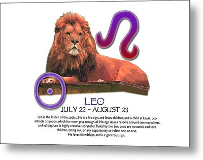 Leo Sun Sign Metal Print by Shelley Overton