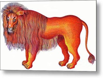 Leo The Lion Metal Print