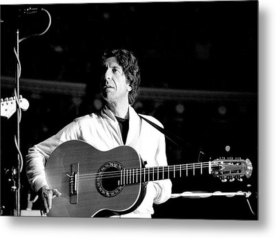Metal Print featuring the photograph Leonard Cohen 1976 Royal Albert Hall by Chris Walter