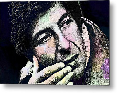 Leonard Cohen - Drawing Tribute Metal Print by Ian Gledhill