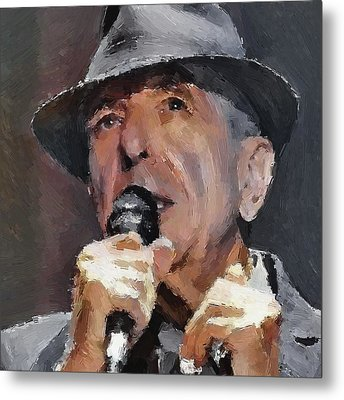 Leonard Cohen Tribute 2 Metal Print