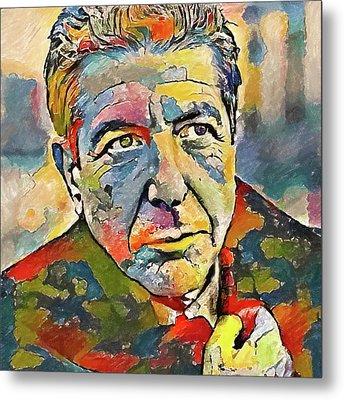 Leonard Cohen Tribute 3 Metal Print