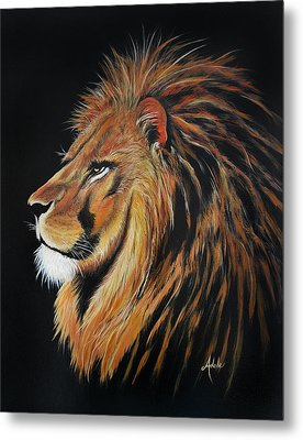 Leonardo Lion Metal Print