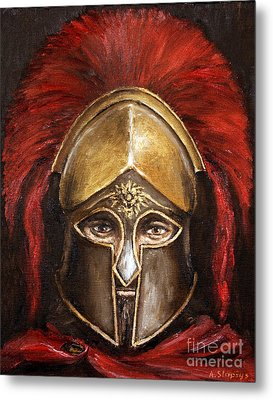 Metal Print featuring the painting Leonidas by Arturas Slapsys