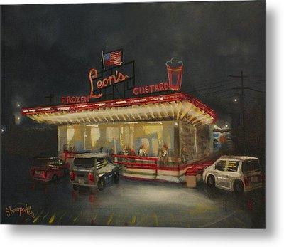 Leon's Frozen Custard Metal Print by Tom Shropshire