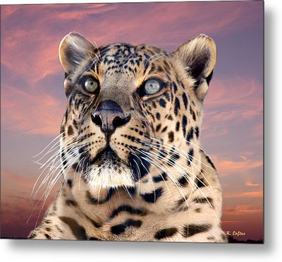 Leopard Portrait Number 3 Metal Print
