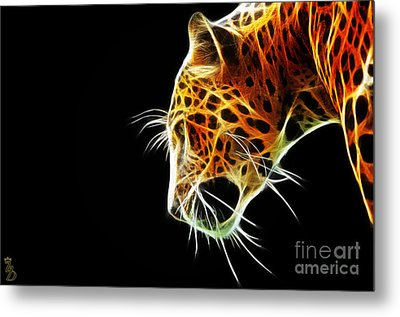 Leopard Metal Print by The DigArtisT