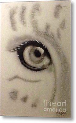 Leopard's Eye Metal Print