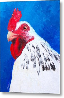 Leopold The Rooster Metal Print