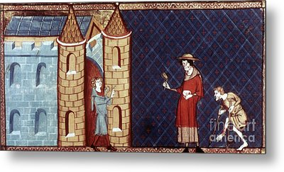 Leper House, C1220-1244 Metal Print by Granger