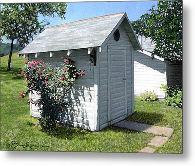 Leroy And Sally's Smokehouse Metal Print by Bruce Morrison