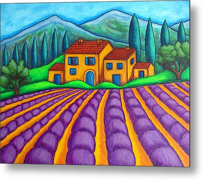 Les Couleurs De Provence Metal Print by Lisa  Lorenz