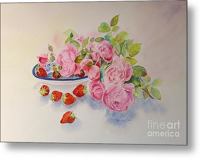 Metal Print featuring the painting Les Fruits De L'ete by Beatrice Cloake