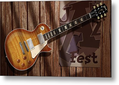 Les Paul Jazzfest Metal Print by WB Johnston