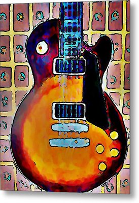 Les Paul - Print Metal Print by Gregory McLaughlin