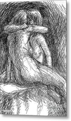 Lesbian Sketches  1 Metal Print