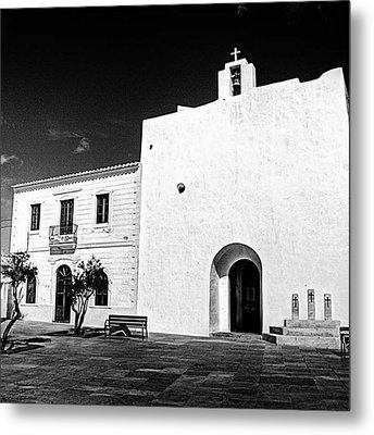 Fortified Church, Formentera Metal Print by John Edwards