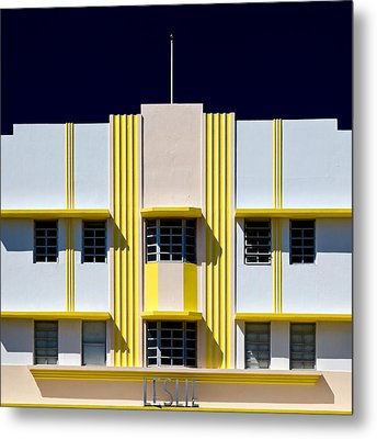 Leslie Hotel Metal Print by Dave Bowman