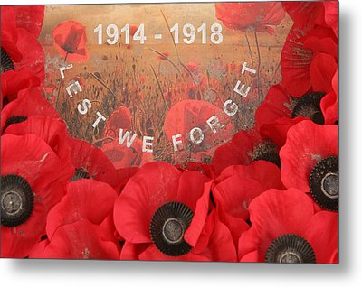 Metal Print featuring the photograph Lest We Forget - 1914-1918 by Travel Pics
