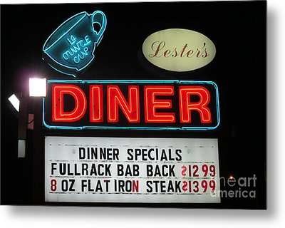 Lesters Diner Metal Print by Randall Weidner