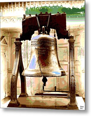 Let Freedom Ring Metal Print by Charles Shoup