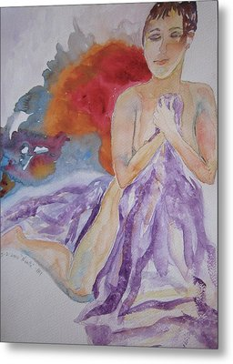 Metal Print featuring the painting Let It Burn by Beverley Harper Tinsley