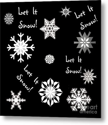 Let It Snow Color Choice Metal Print