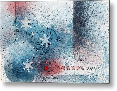 Let It Snow Metal Print by Monte Toon