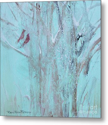Metal Print featuring the painting Let It Snow by Robin Maria Pedrero