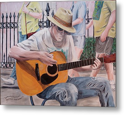 Metal Print featuring the painting Let The Good Times Roll-new Orleans Blues by Kevin Callahan