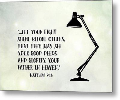 Let Your Light Shine Metal Print by Nancy Ingersoll