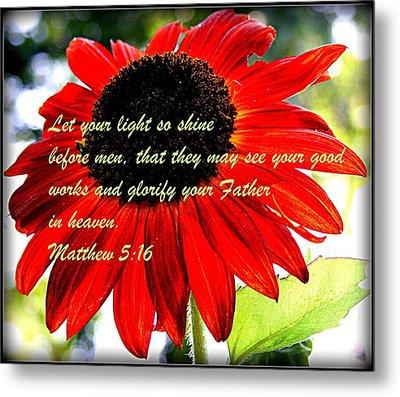 Let Your Light So Shine Metal Print by Robert Babler