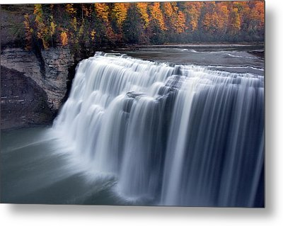 Metal Print featuring the photograph Letchworth Middle Falls II by Timothy McIntyre