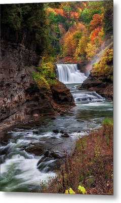 Letchworth State Park Lower Falls Metal Print
