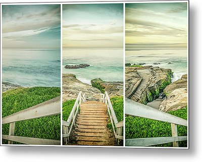 Let's Go Down To Windansea Metal Print by Joseph S Giacalone
