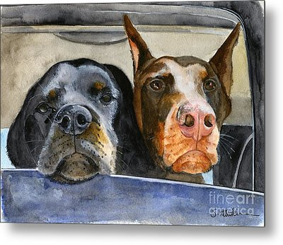 Let's Go For A Ride Metal Print by Sheryl Heatherly Hawkins
