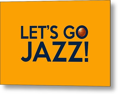 Let's Go Jazz Metal Print