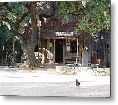 Let's Go To Luckenbach Texas Metal Print by Elizabeth Sullivan